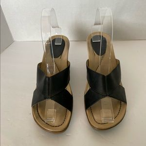 Dansko Black Sandals Size: 38